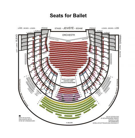 プラハの国立歌劇場The State Opera座席図