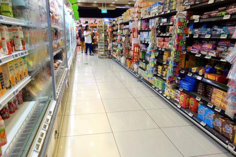 マリーナベイサンズのスーパーCold Storageの店内