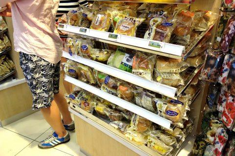 マリーナベイサンズのスーパーCold-Storageパンのコーナー