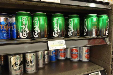 マリーナベイサンズのスーパーCold-Storageで売られている輸入ビール