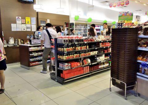 マリーナベイサンズのスーパーCold-Storageの都市型店舗