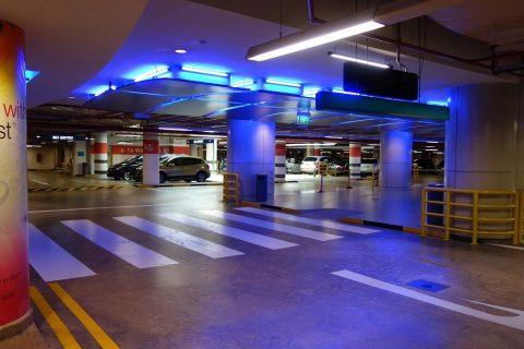 エスプラネード地下の駐車場