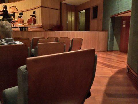 エスプラネードコンサートホール通路側の席