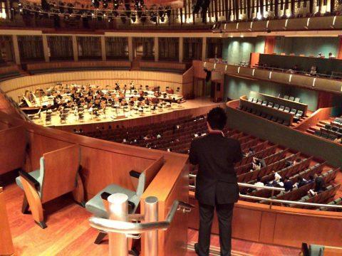 シンガポール交響楽団/エスプラネードコンサートホール2階席からの眺望