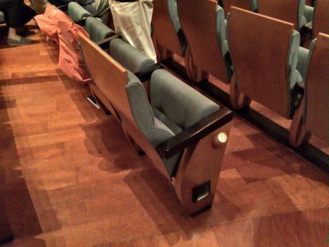 エスプラネードコンサートホール客席のシート