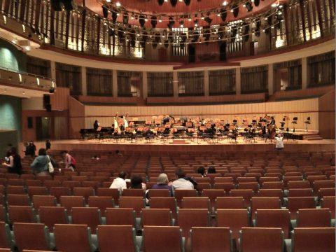 エスプラネードコンサートホール講堂の中