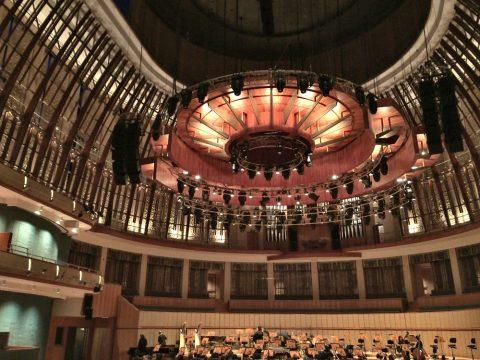 エスプラネードコンサートホール客席天井のデザイン
