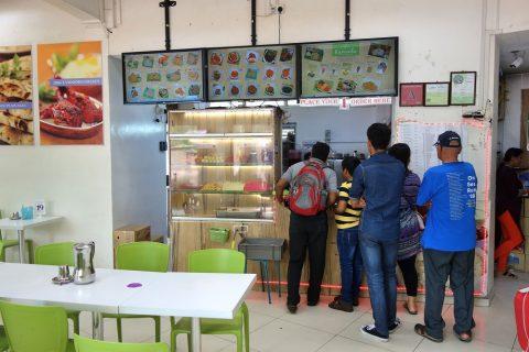 シンガポールKamala-RESTAURANTの注文カウンター