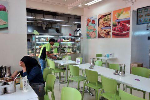 シンガポールKamala-RESTAURANTの店内