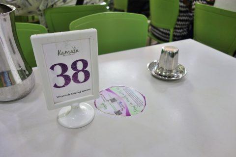 シンガポールKamala-RESTAURANTの番号札