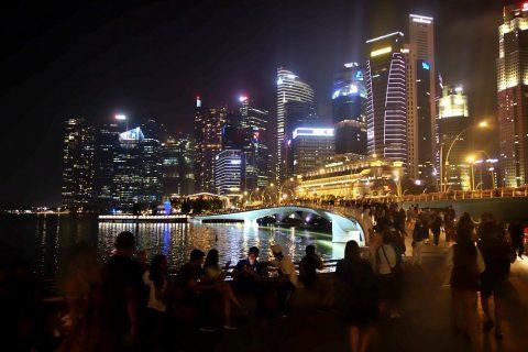 シンガポールの夜景Jubilee-Bridge