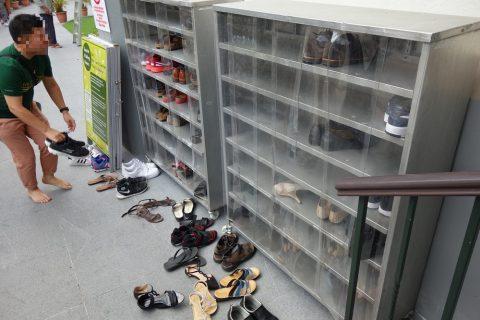 サルタン・モスクの靴ばこ