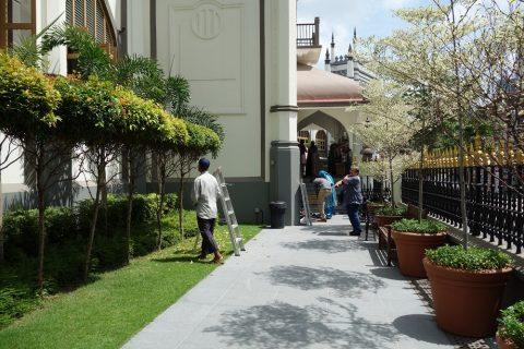 サルタン・モスクのメインエントランス