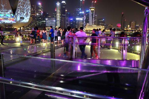 シンガポールHelix-Bridge展望スペース