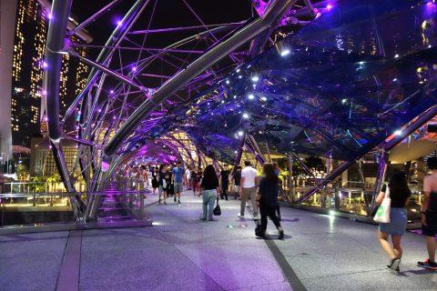 シンガポールHelix-BridgeはDNAをモチーフ