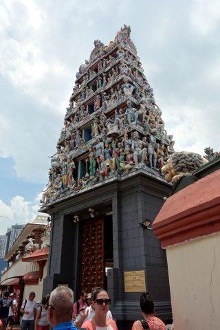 スリ・マリアマン寺院(シンガポール)の外観