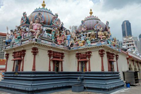 スリ・マリアマン寺院(シンガポール)の屋根
