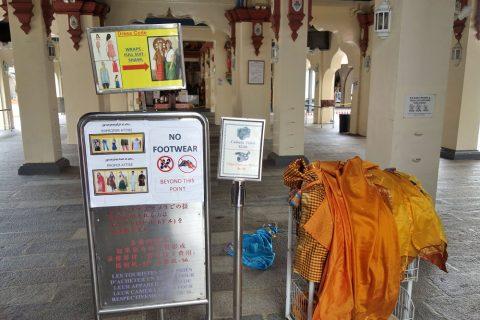 スリ・マリアマン寺院(シンガポール)の貸し服