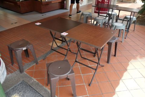 シンガポール「東興」のイートインスペース