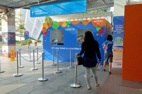 シンガポールWings Of Timeチケットブース