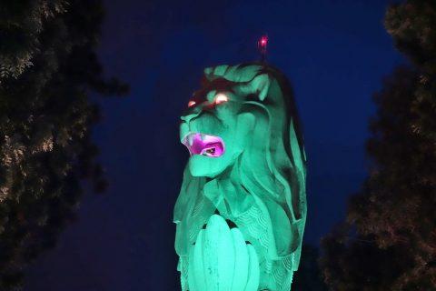 セントーサマーライオンのライトアップの種類