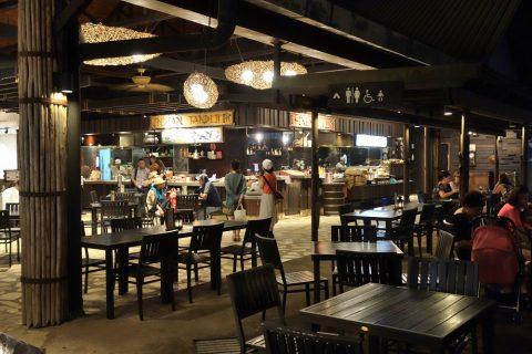 ナイトサファリのレストラン