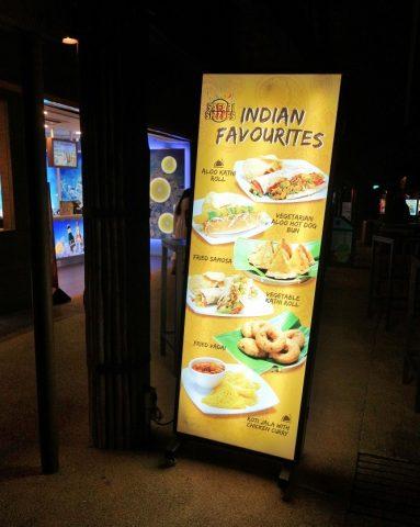 ナイトサファリのレストランのアジアンフード