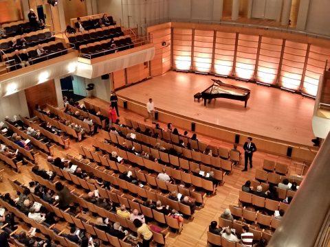 シドニーCity-Recital-Hallの小じんまりとした客席