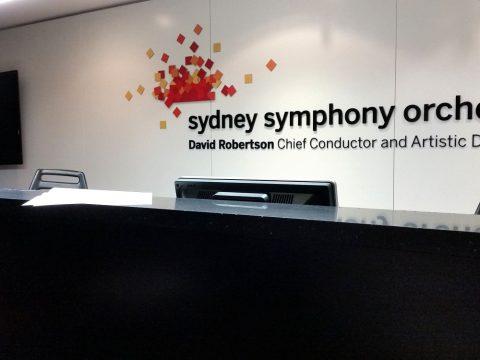 シドニーシンフォニーオーケストラ事務所の受付