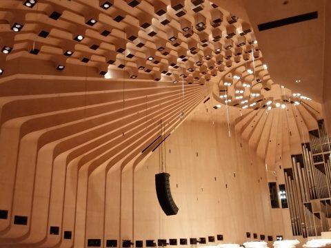 シドニーオペラハウスのホール天井にある凹凸デザイン