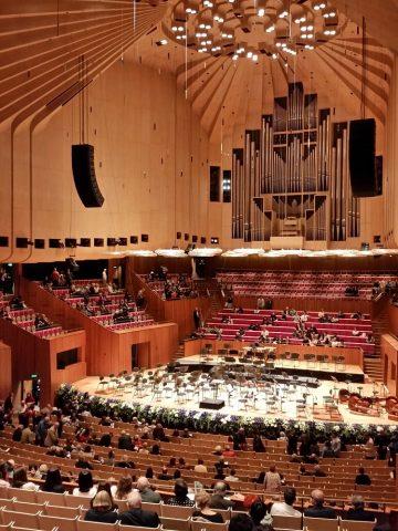 シドニーオペラハウスのホール全景