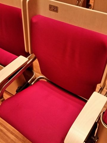シドニーオペラハウスの椅子の座り心地