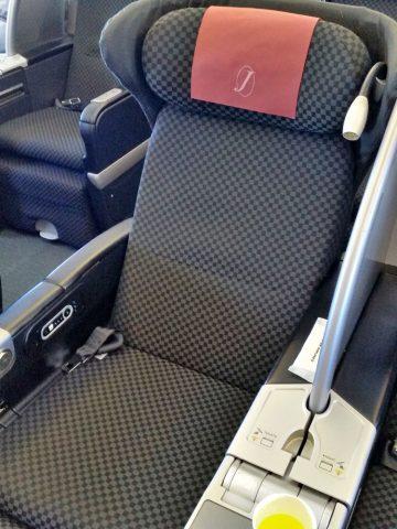 JAL国際線機材クラスJビジネスクラスシートのリクライニング角度