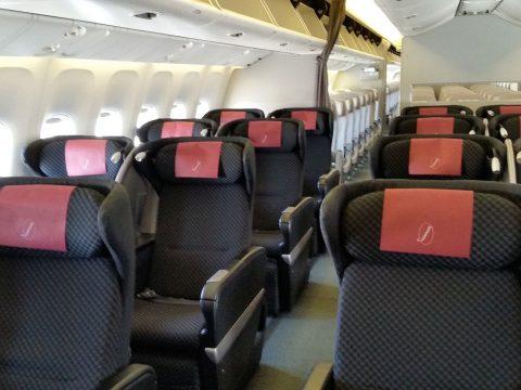 JAL国際線機材クラスJビジネスクラスシートSKYRECLINER