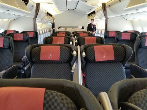 JAL国際線機材クラスJビジネスクラスシート搭乗記SKYRECLINER