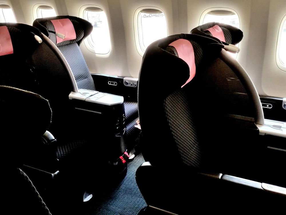 JAL国際線機材クラスJビジネスクラスシート搭乗記!SKYRECLINER