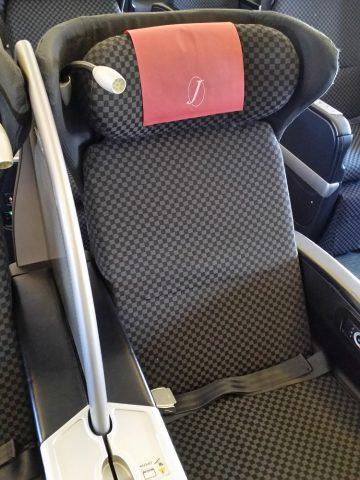 JAL国際線機材クラスJビジネスクラスシートの大きなパーティション