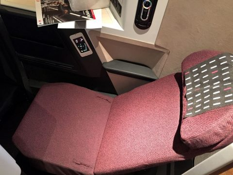 JALスカイスイート3の中央席