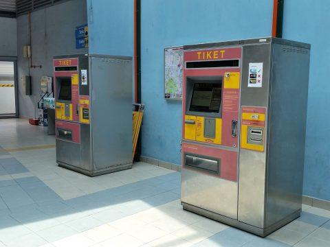 KTMコミューターの券売機