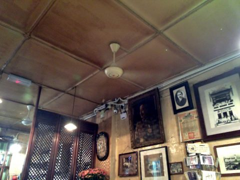 オールドチャイナカフェOLD CHINA CAFEのシーリングファン