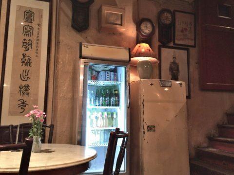 オールドチャイナカフェOLD CHINA CAFEの古いインテリア