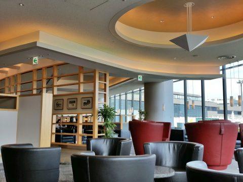 アメリカン航空ラウンジのリビングスペース・成田空港