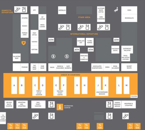 クアラルンプール国際空港MAP