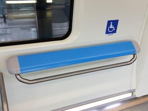 クアラルンプールMRT車内の車椅子スペース