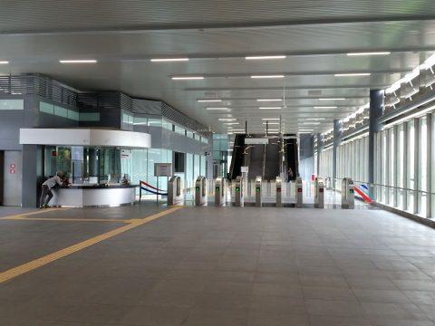 MRT-Sungai Buloh駅の改札口