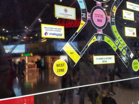 クアラルンプール国際空港サテライトMAP