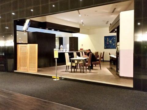 マレーシア航空ゴールデンラウンジサテライトのカフェスペース