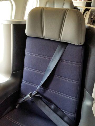マレーシア航空A330ビジネスクラスのシートベルト