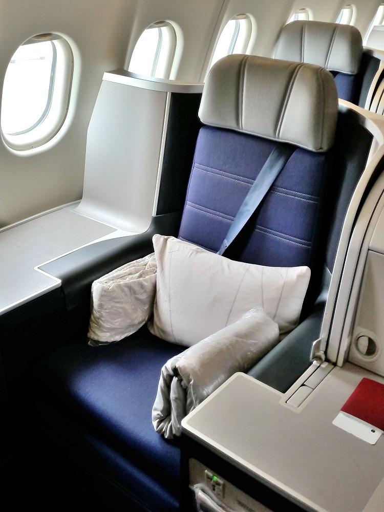 マレーシア航空A330ビジネスクラスのシート