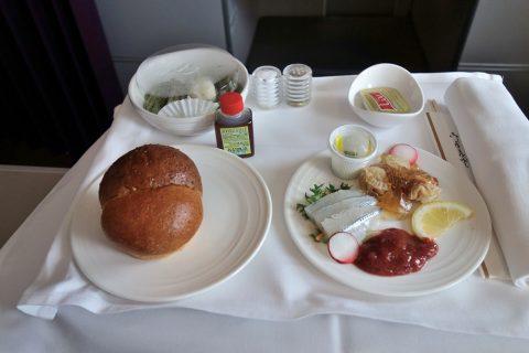 マレーシア航空A330ビジネスクラス機内食の前菜日本食